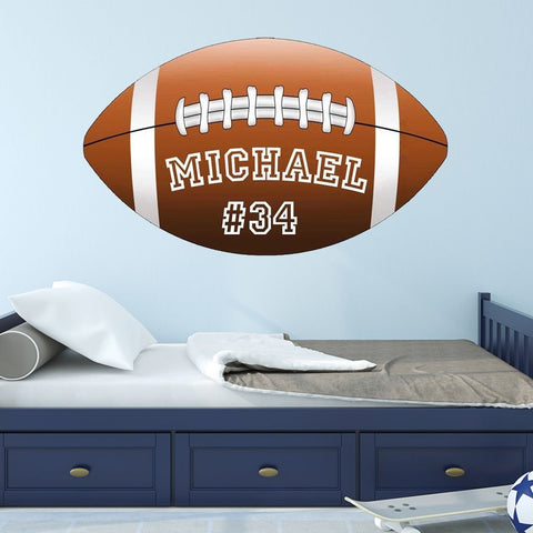 VWAQ Football Wall Decal Custom Name Personalize Sports Teams School Sticker - BL1 - VWAQ Vinyl Wall Art Quotes and Prints