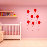 VWAQ Peel and Stick Pack of 7 Balloons Vinyl Wall Decal (Choose Color) - VWAQ Vinyl Wall Art Quotes and Prints