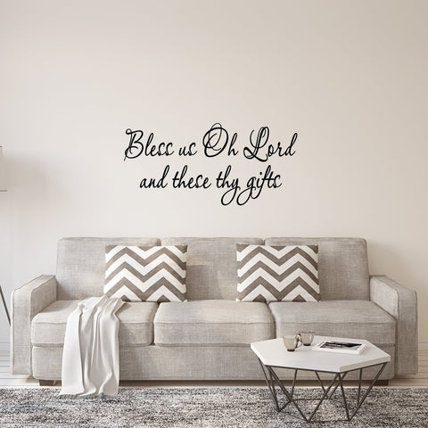 VWAQ Bless Us Oh Lord and These Thy Gifts Wall Quotes Decal - VWAQ Vinyl Wall Art Quotes and Prints