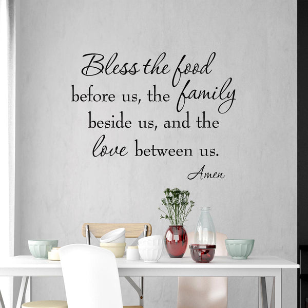 VWAQ Bless the Food Before Us Family Wall Quotes Decal - VWAQ Vinyl Wall Art Quotes and Prints