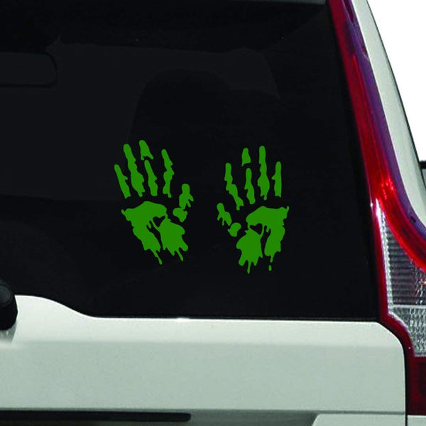 VWAQ Bloody Hands Vehicle Vinyl Window Decal - VWAQ Vinyl Wall Art Quotes and Prints