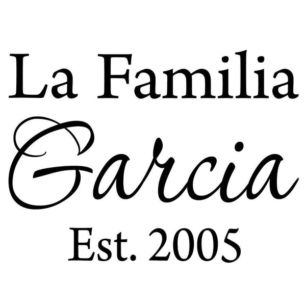 Spanish Family Name Decal