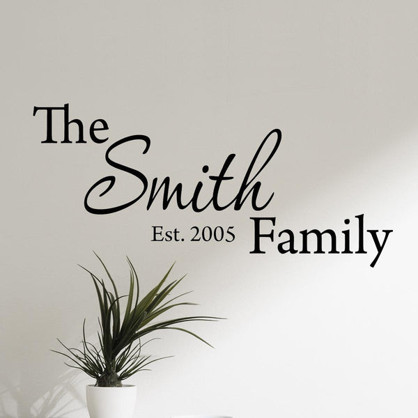 VWAQ Custom Family Name Wall Decal Personalized Decal with Your Family Name CS1 - VWAQ Vinyl Wall Art Quotes and Prints