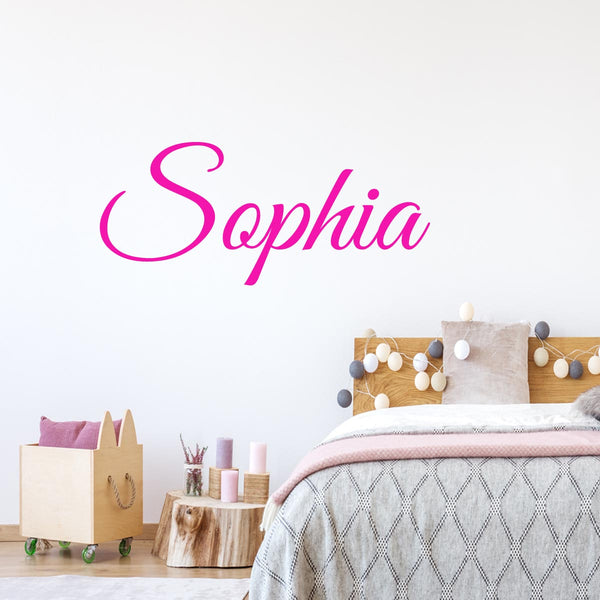 VWAQ Custom Name Wall Decal for Girls - INSERT NAME Personalized Decal - CS3 - VWAQ Vinyl Wall Art Quotes and Prints