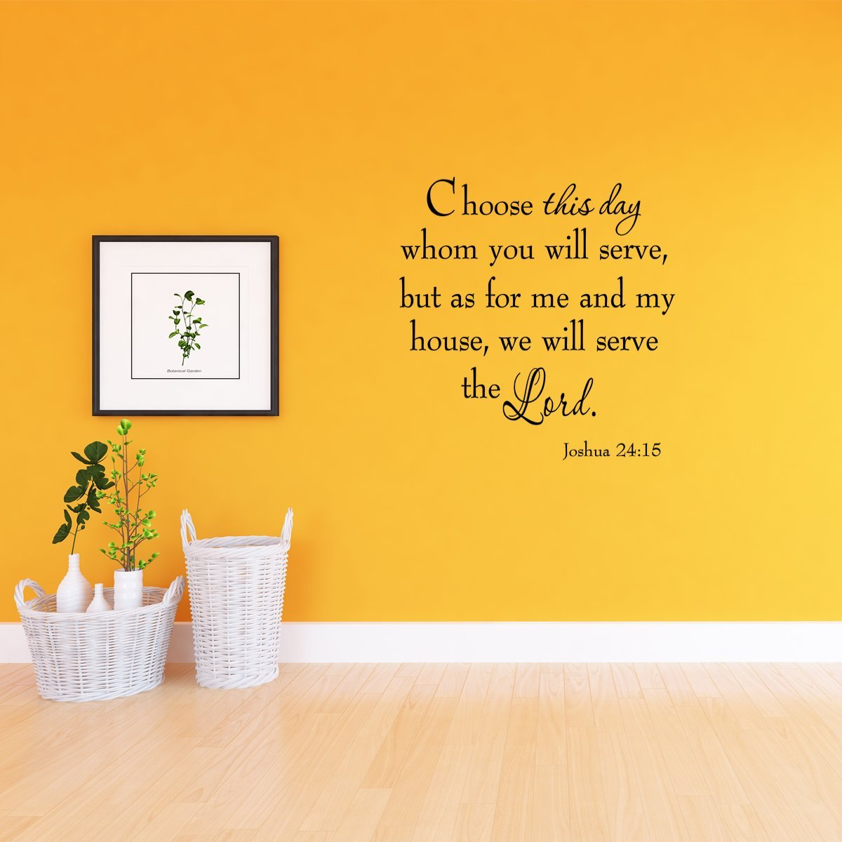 VWAQ Choose This Day Whom You Will Serve Bible Wall Quotes Decal - VWAQ Vinyl Wall Art Quotes and Prints