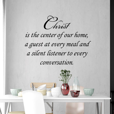VWAQ Christ is the Center of Our Home Faith Wall Quotes Decal - VWAQ Vinyl Wall Art Quotes and Prints