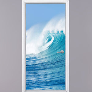 VWAQ Ocean Door Mural Vinyl Decor - Beach Door Wrap Decal Kids Bedroom - DM3
