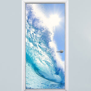 VWAQ Ocean Door Mural Decor - Vinyl Beach Water Bedroom Door Wrap Decal Sticker - DM4 - VWAQ Vinyl Wall Art Quotes and Prints