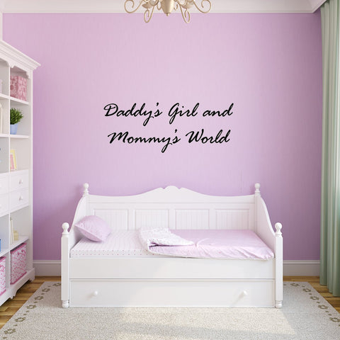 VWAQ Daddy's Girl and Mommy's World, Nursery Vinyl Wall Quotes Decal - VWAQ Vinyl Wall Art Quotes and Prints