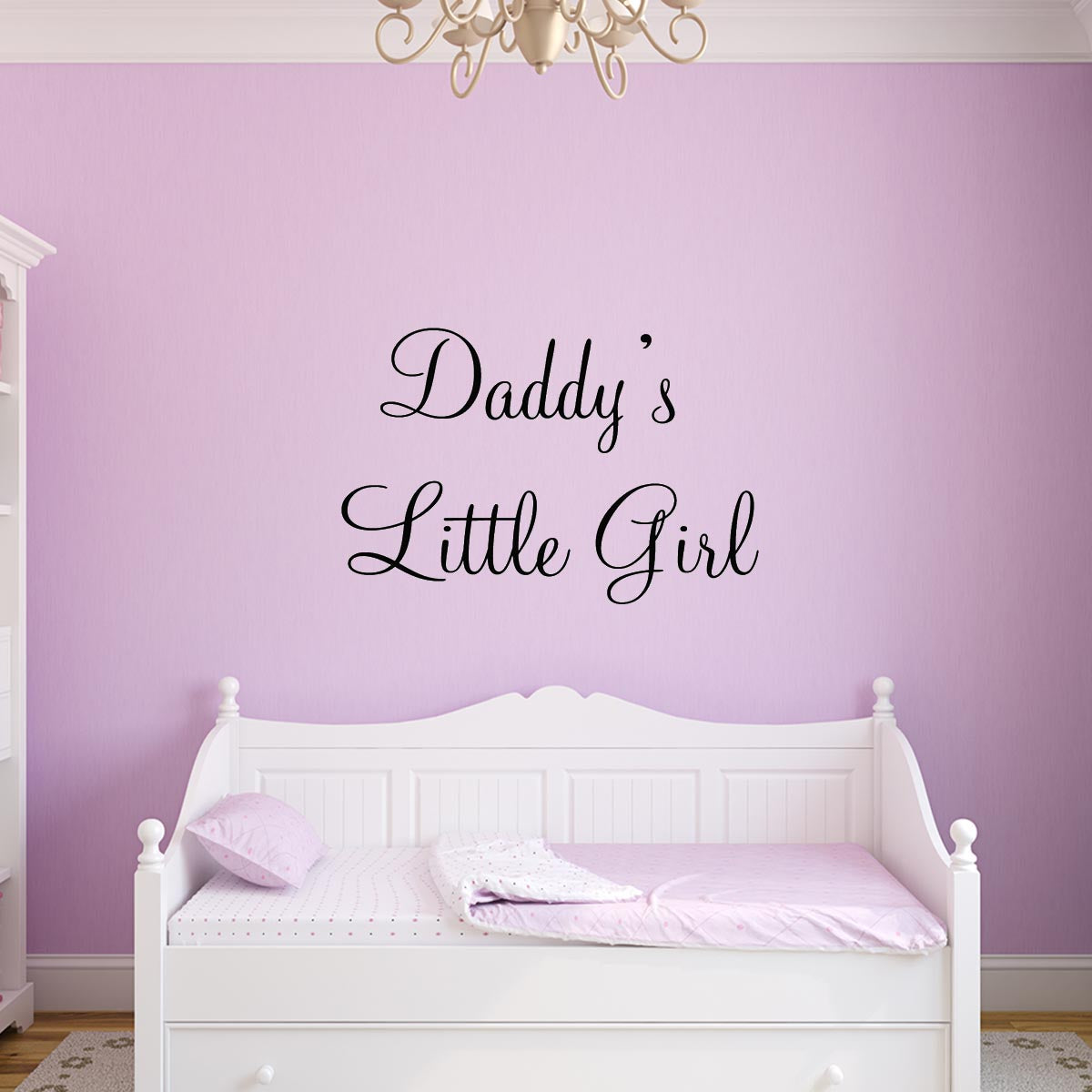 VWAQ Daddy\'s Little Girl Quotes Nursery Wall Decal