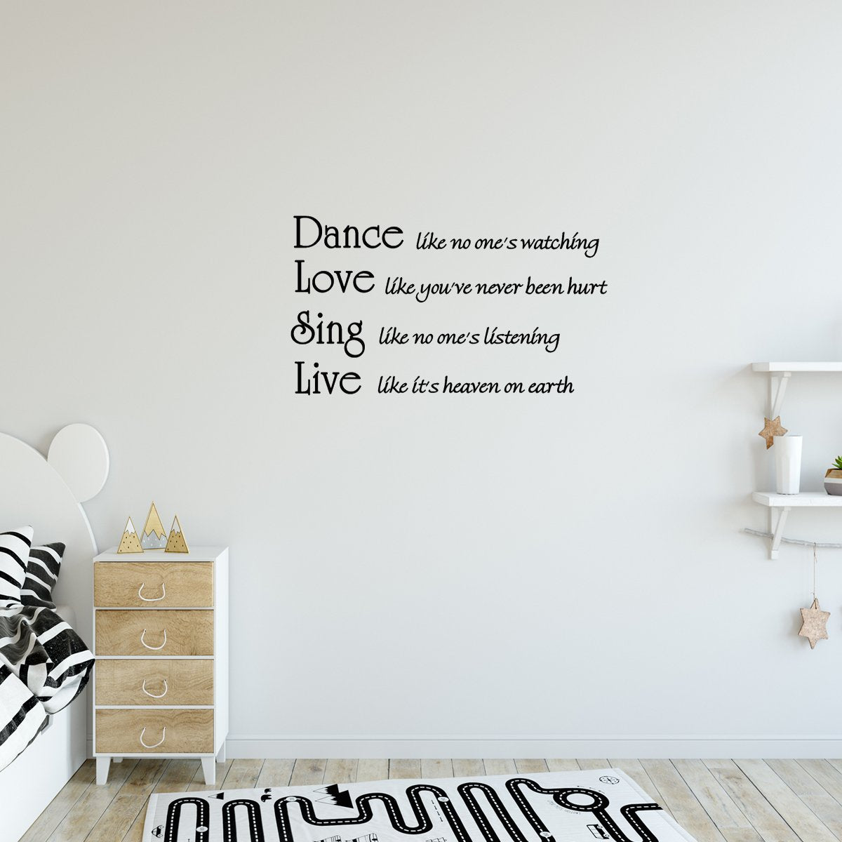 VWAQ Dance Like No One's Watching Quote Dance Decal - VWAQ Vinyl Wall Art Quotes and Prints