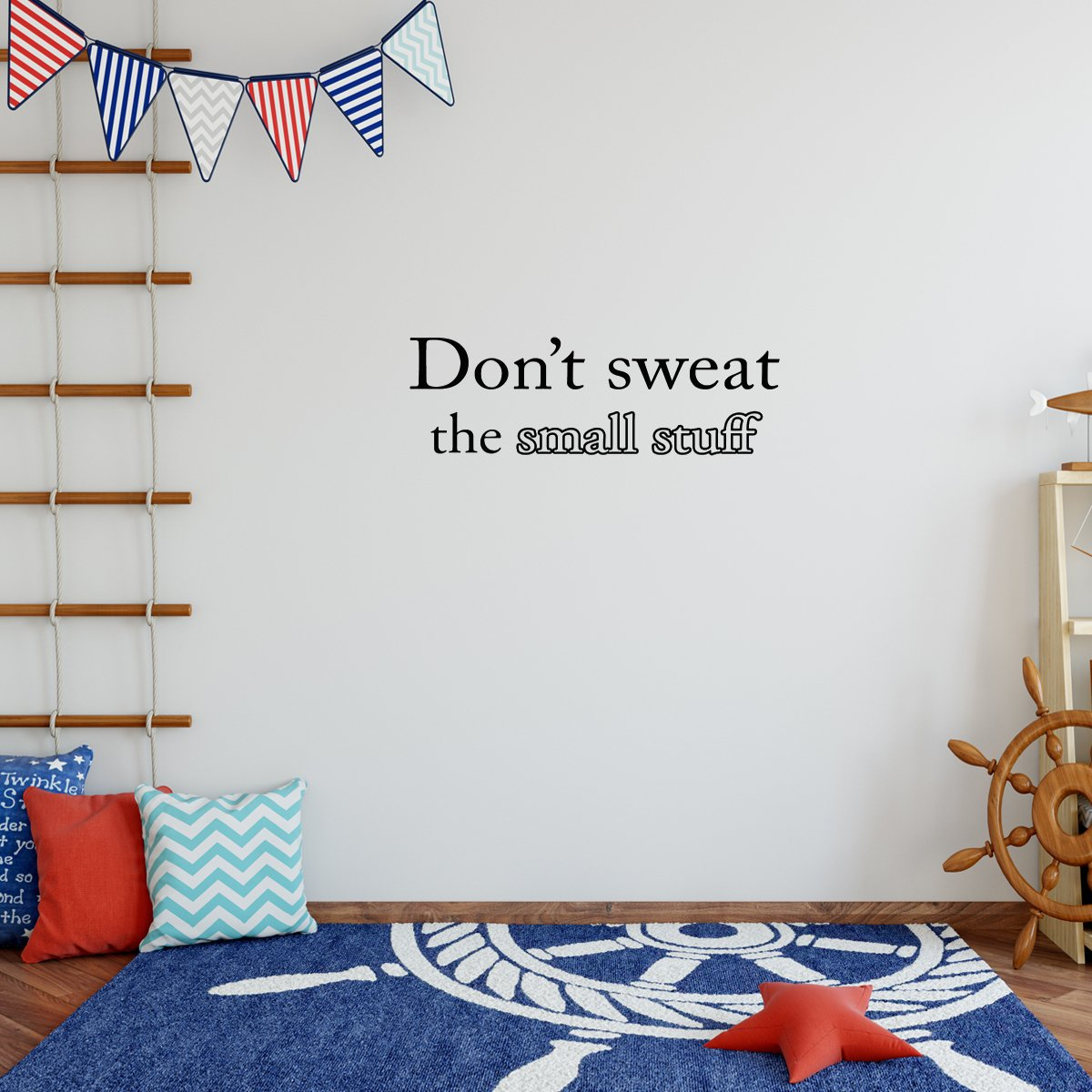 VWAQ Don't Sweat the Small Stuff Vinyl Wall Quotes Decal - VWAQ Vinyl Wall Art Quotes and Prints