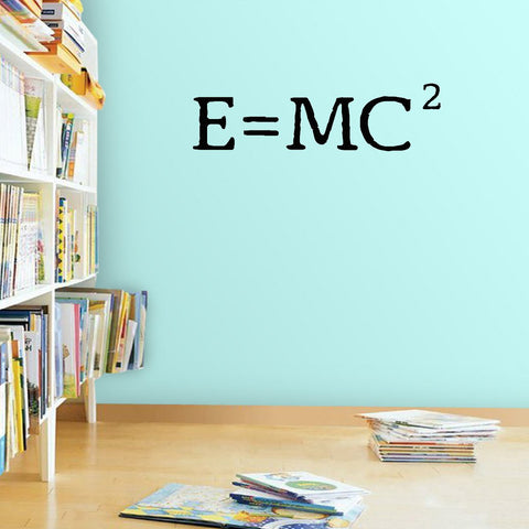 VWAQ E=MC2 Albert Einstein Science Wall Quotes Decal - VWAQ Vinyl Wall Art Quotes and Prints