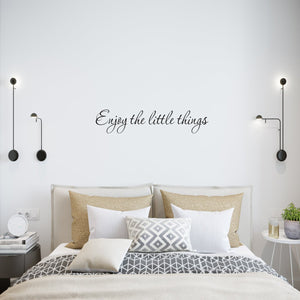 VWAQ Enjoy the Little Things Vinyl Wall Quotes Decal - VWAQ Vinyl Wall Art Quotes and Prints