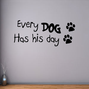 DOGS ANIMAL PET  GRAPHICS QUOTE SAYING BATHROOM WALL ART DECAL STICKER VINYL
