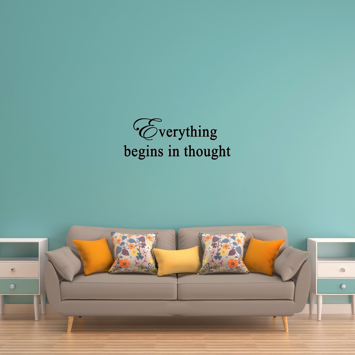 VWAQ Everything Begins in Thought Positive Thinking Wall Quotes Decal - VWAQ Vinyl Wall Art Quotes and Prints