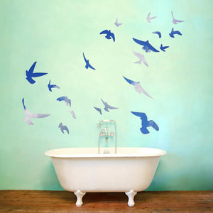 VWAQ Flock of Birds Flying Wall Decals Stickers Peel and Stick Wall Art FB1 - VWAQ Vinyl Wall Art Quotes and Prints