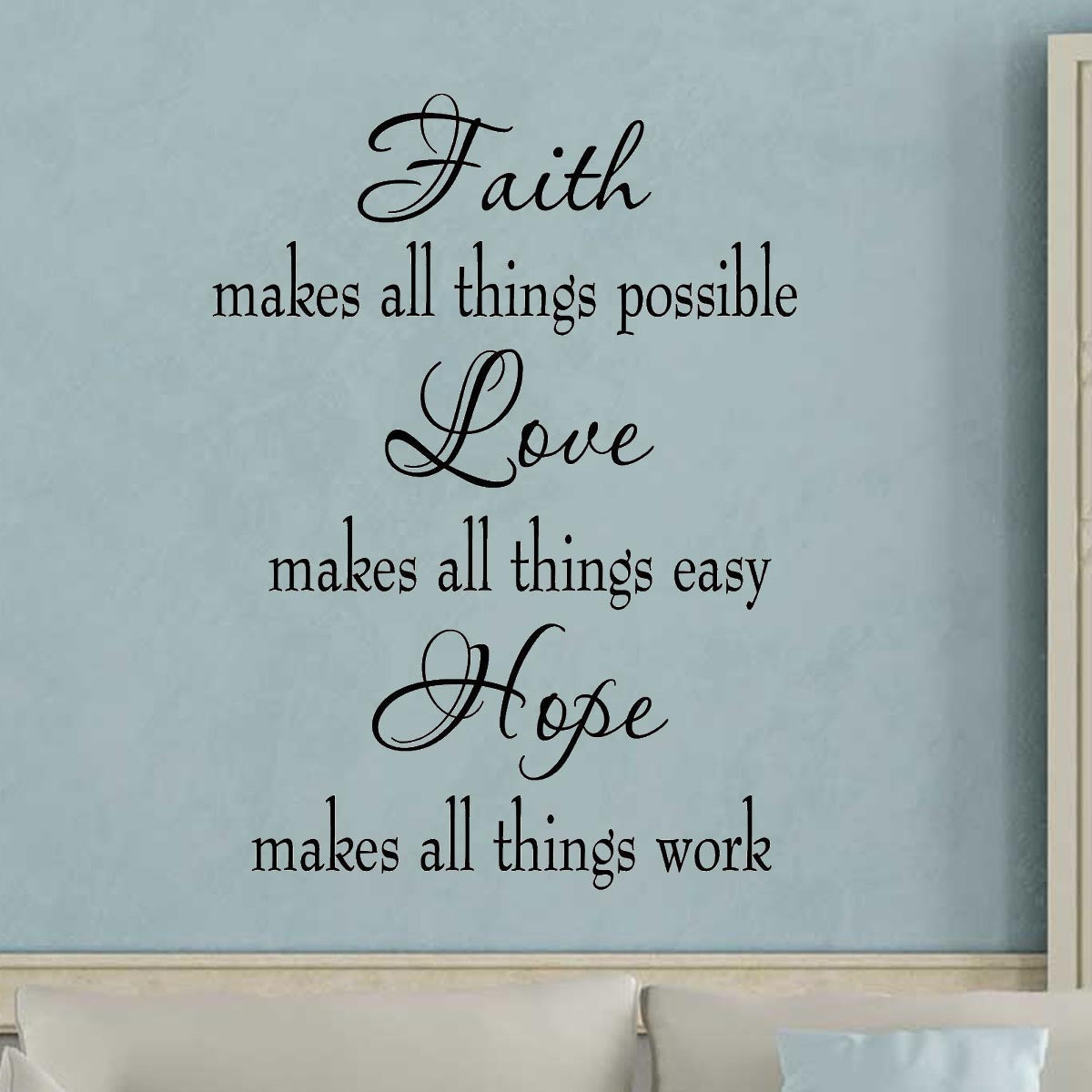 VWAQ Faith Makes All Things Possible Wall Quotes Decal - VWAQ Vinyl Wall Art Quotes and Prints