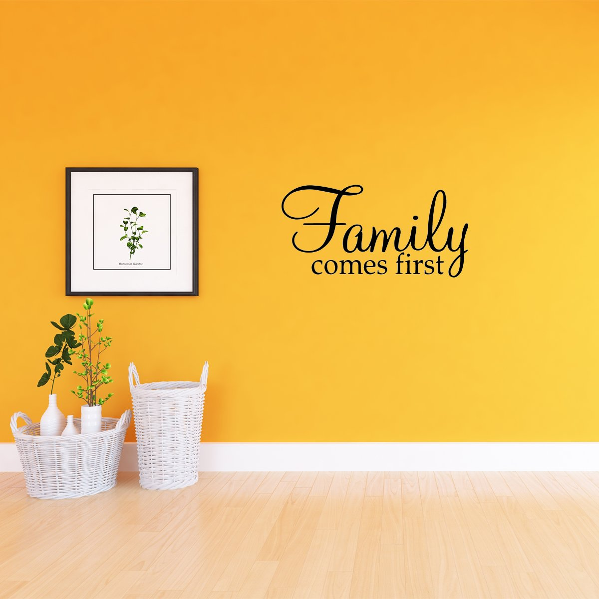 Vwaq Family Comes First Home Decor Vinyl Wall Art Decal