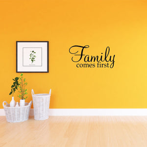 VWAQ Family Comes First Home Decor Vinyl Wall art Decal - VWAQ Vinyl Wall Art Quotes and Prints