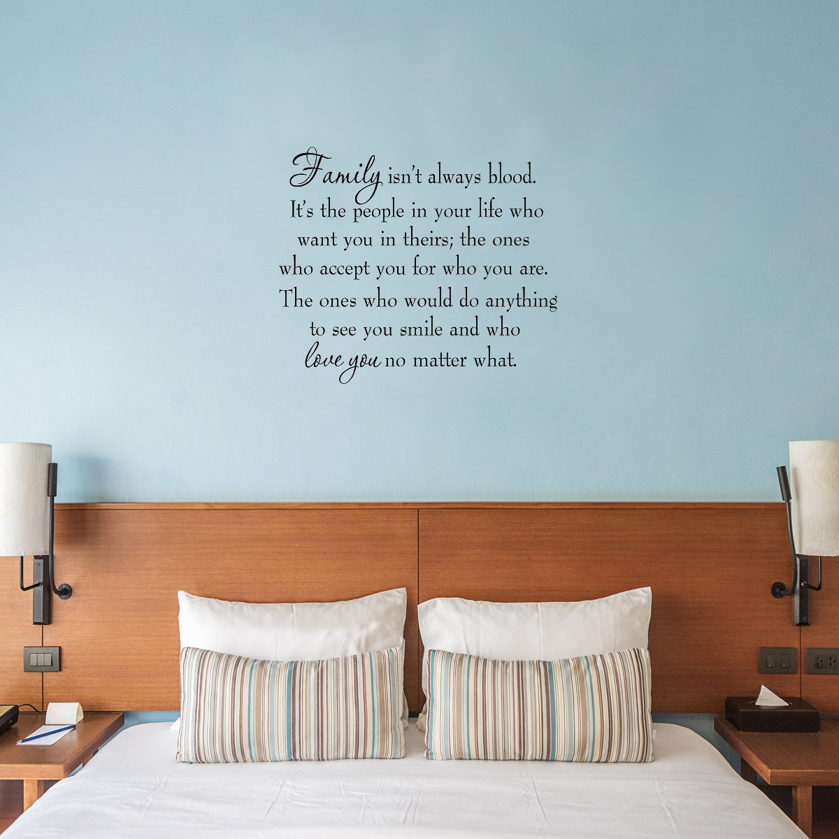 Family Isn T Always Blood Inspirational Family Wall Decal Saying