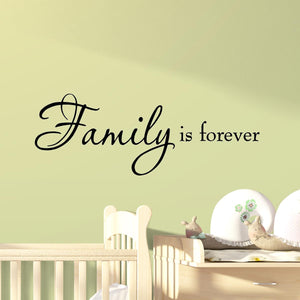 VWAQ Family is Forever Vinyl Wall Quotes Decal - VWAQ Vinyl Wall Art Quotes and Prints