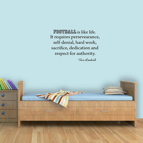 VWAQ Football Is Like Life, Vince Lombardi Quotes Wall Decal - VWAQ Vinyl Wall Art Quotes and Prints