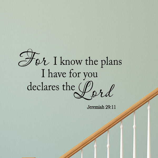 VWAQ For I Know the Plans I Have for You Wall Decal - VWAQ Vinyl Wall Art Quotes and Prints
