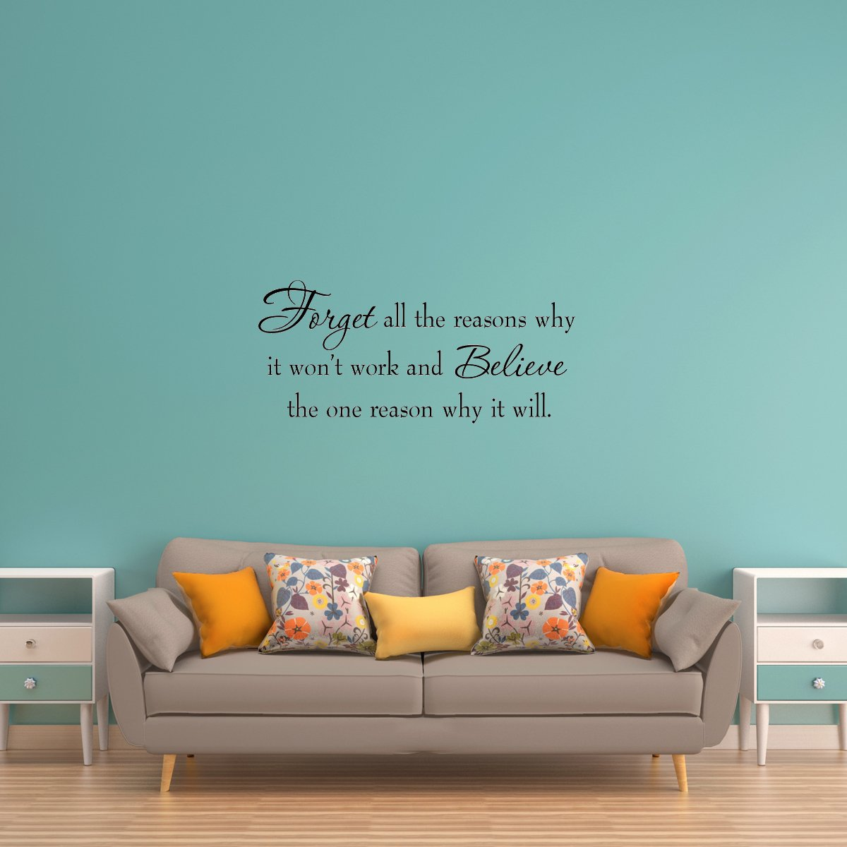 VWAQ Forget All the Reasons Why It Won't Work Wall Decal - VWAQ Vinyl Wall Art Quotes and Prints
