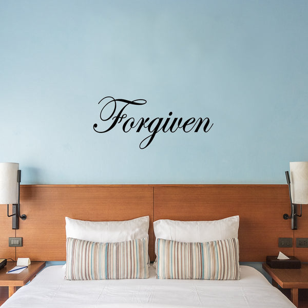 VWAQ Forgiven Vinyl Wall Decal - VWAQ Vinyl Wall Art Quotes and Prints