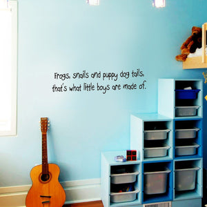 VWAQ Frogs Snails and Puppy Dog Tails Wall Decal - VWAQ Vinyl Wall Art Quotes and Prints