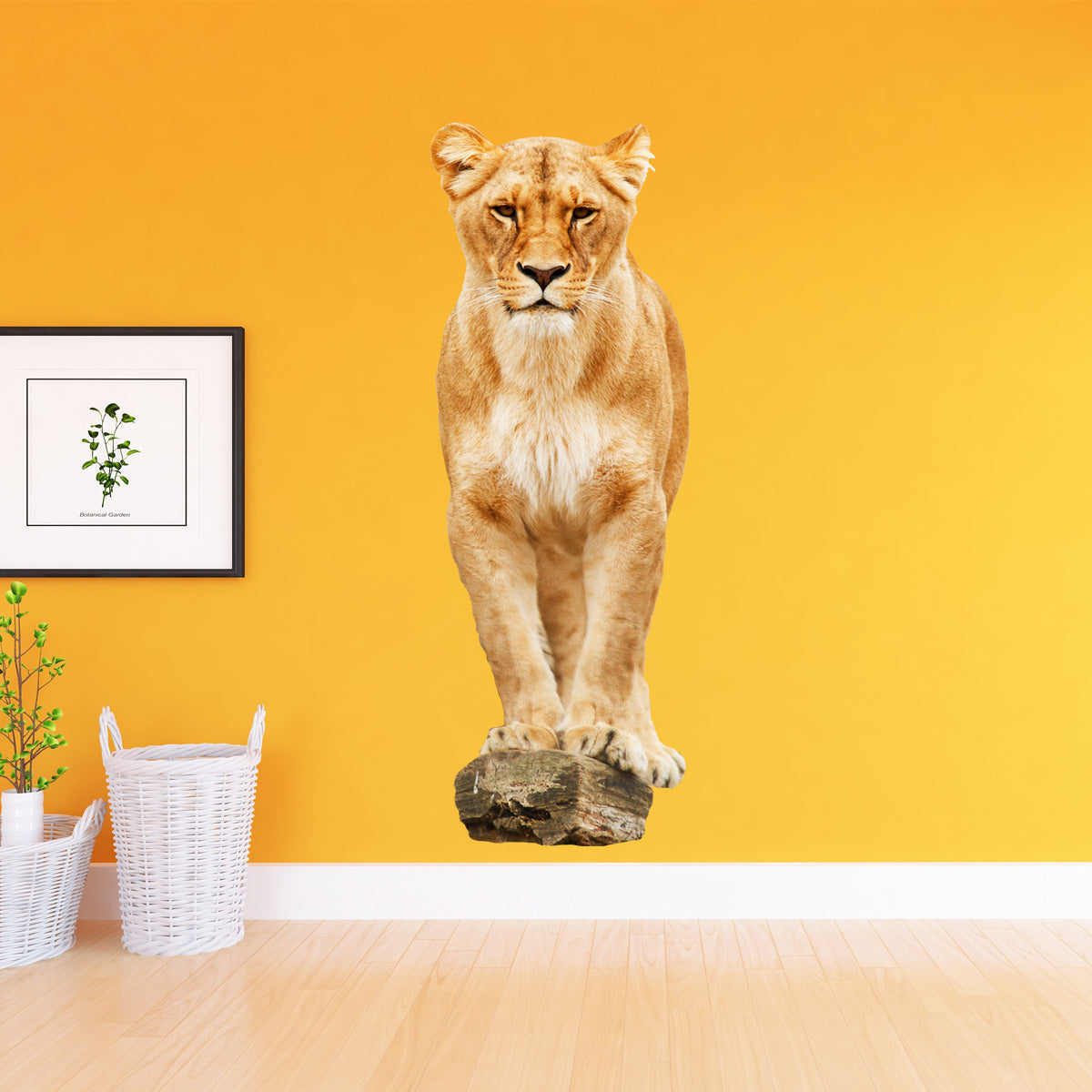 VWAQ Lioness on Perch Peel and Stick Vinyl Wall Decal - G502 - VWAQ Vinyl Wall Art Quotes and Prints
