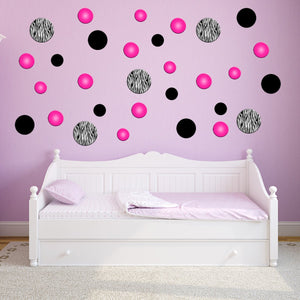 VWAQ Zebra Stripe Peel and Stick Wall Decals (GD1)