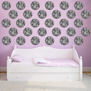 VWAQ Zebra Print Polka Dots Peel and Stick Wall Decals (GD2)