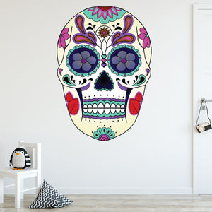 VWAQ Dia De Los Muertos Sugar Skull Decal - GJG5 - VWAQ Vinyl Wall Art Quotes and Prints