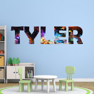 Galaxy Name Decal for Boys Room