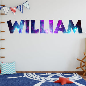 Personalized Name Outer Space Removable Wall Decal Galaxy Theme