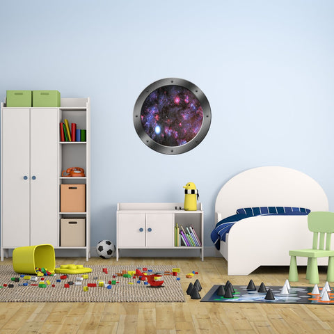 VWAQ Galaxy Porthole, Space Window Decal - Outer Space Clings - PS14 - VWAQ Vinyl Wall Art Quotes and Prints
