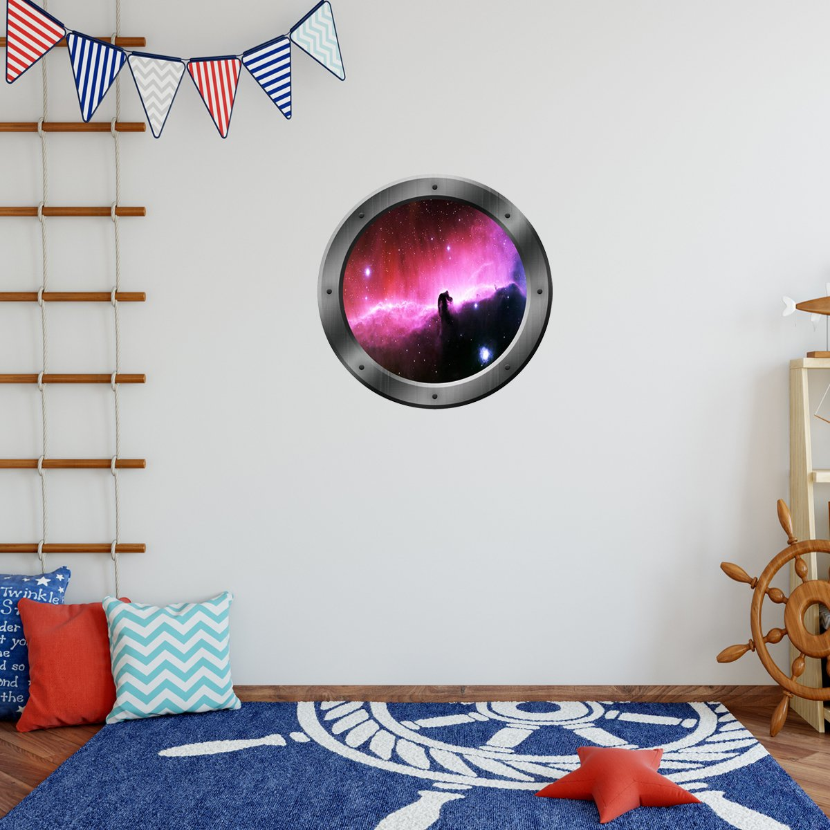 VWAQ Galaxy Porthole Window Peel and Stick Vinyl Wall Decal - PS10 - VWAQ Vinyl Wall Art Quotes and Prints