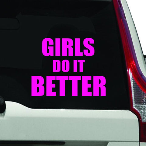 VWAQ Girls Do It Better, Car Sticker