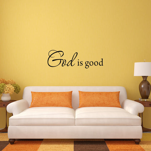 VWAQ God is Good Wall Decal Inspirational Quote Bible Wall Decal - VWAQ Vinyl Wall Art Quotes and Prints
