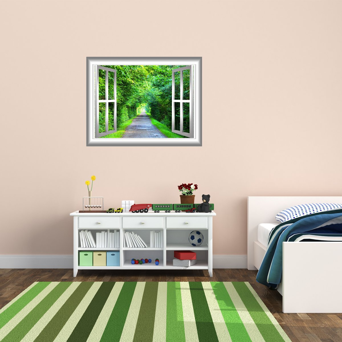 VWAQ Greenery Wall Decal 3D Forest Wall Cling Peel and Stick Window Mural - NW32 - VWAQ Vinyl Wall Art Quotes and Prints