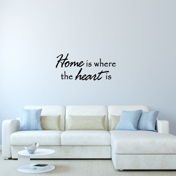 VWAQ Home is Where the Heart is Vinyl Wall Decal - VWAQ Vinyl Wall Art Quotes and Prints