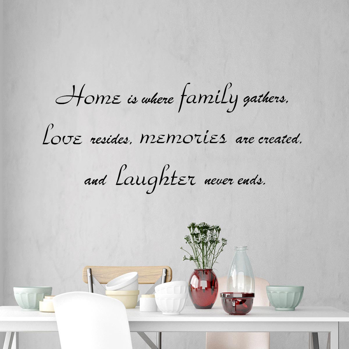 home is where family gathers wall decal family room wall quote sa