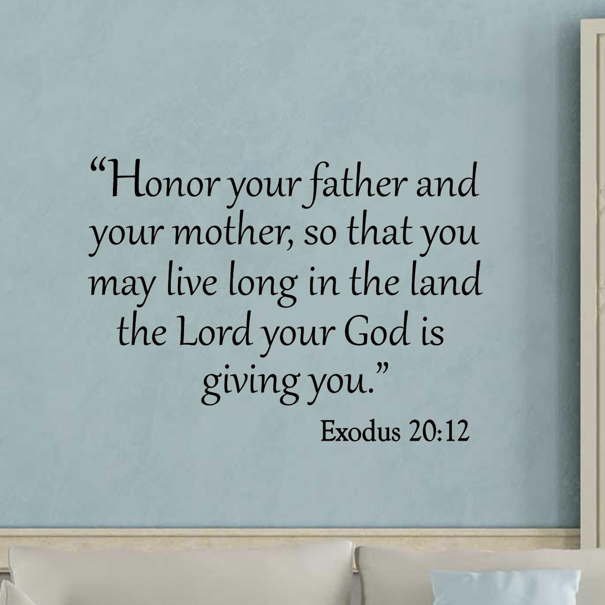 VWAQ Honor Your Father and Your Mother, So That You May Live Long In The Land Wall Decal - VWAQ Vinyl Wall Art Quotes and Prints