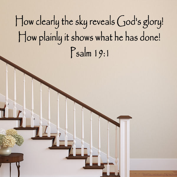 How Clearly The Sky Reveals God's Glory! Bible Wall Decal