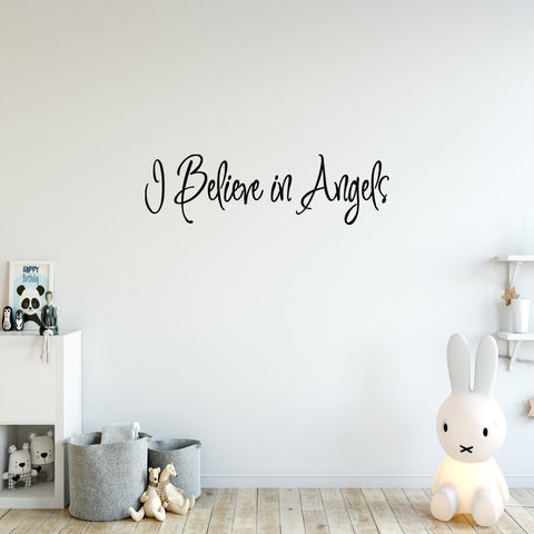 VWAQ I Believe in Angels Wall Quotes for Home Decal - VWAQ Vinyl Wall Art Quotes and Prints