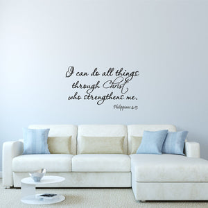 VWAQ I Can Do All Things Through Christ Bible Wall Quotes - VWAQ Vinyl Wall Art Quotes and Prints