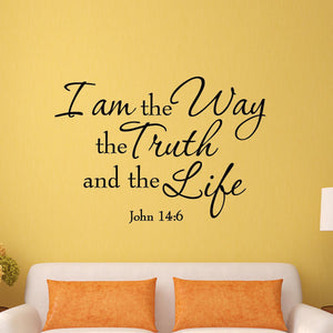 VWAQ I Am the Way the Truth and the Life John 14:6 Wall Decal - VWAQ Vinyl Wall Art Quotes and Prints
