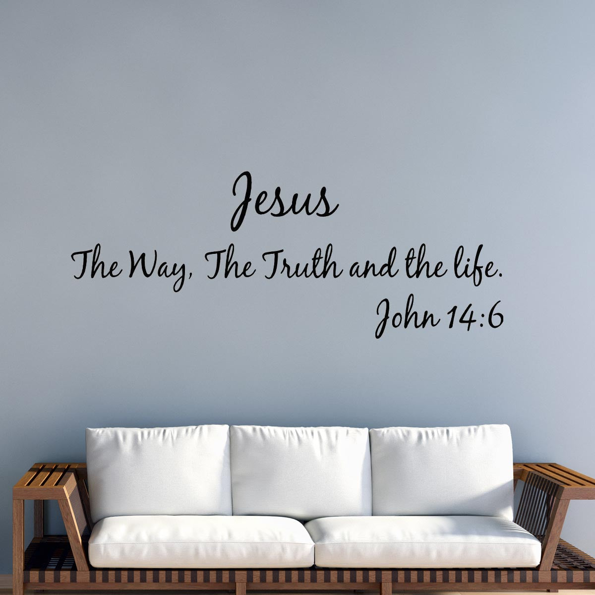 VWAQ Jesus The Way, The Truth And The Life - John 14 6 Vinyl Decal Bible Verses For Wall - VWAQ Vinyl Wall Art Quotes and Prints